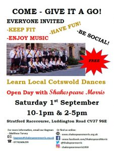 Shakespeare Morris Open Day @ Stratford Racecourse