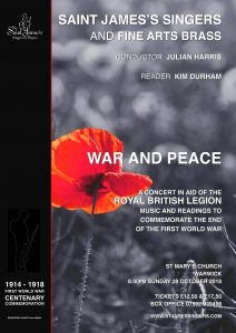 War and Peace (a concert in aid of the Royal British Legion) @ St Mary's Church, Warwick